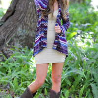 Passion For Plum Cardigan: Plum/Tan | Hope's