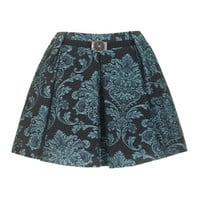 JUST CAVALLI  Brocade Full Sparkle Black Flared cut brocade skirt - Skirts