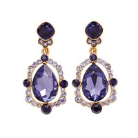 PEAR CUT CRYSTAL DROP EARRING