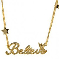 Tinkerbell Believe Necklace