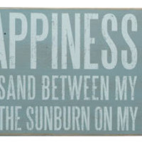 Happiness Is Box Sign | OceanStyles.com