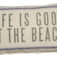 Life Is Good Linen Pillow | OceanStyles.com