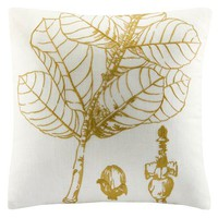 Gold Leaf Silhouette Pillow : Log Cabin Styles
