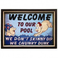 Nilima Home's Product - RAM Gameroom Chunky Dunk Pool Wall Sign - ODR159 - All Wall Art - Wall Art & Coverings - Decor