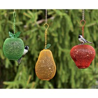 Fruit-Shaped Mesh Bird Feeders - Plow & Hearth