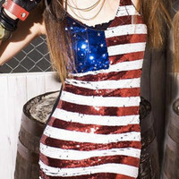 USA sequined dress by popthecard on Etsy