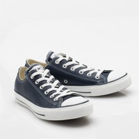 Converse / Navy Leather Low Top