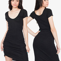 Sheer Rib Short Sleeve Scoop Neck Dress | Dresses | Shop American Apparel