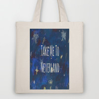 Take Me To Neverland | Galaxy Tote Bag by Sarah Hinds