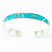 Zeta Tau Alpha Bangle (Turquoise)