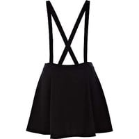 Black dungaree skater skirt - skirts - sale - women