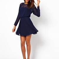 ASOS | ASOS Lace Batwing Skater Dress at ASOS