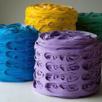 "13 Ricrea Recycles Shoe Manufacturing Waste into Colorful ""Pouf"" Seating 