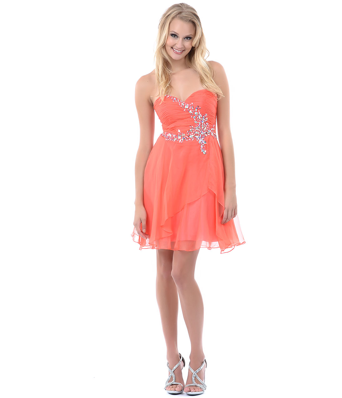 Coral Short Formal Dresses
