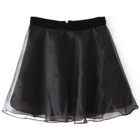 ROMWE | Double-layered Black Skirt, The Latest Street Fashion