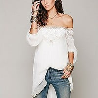 Free People   Embellished Off the Shoulder Tunic at Free People Clothing Boutique