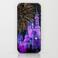 Disney Magic Kingdom Fireworks at Christmas - Cinderella Castle iPhone & iPod Skin by Hub Photos