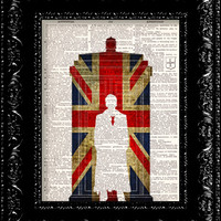Dr. Who And The British Flag Vintage by TheRekindledPage on Etsy