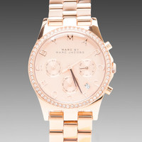 Marc by Marc Jacobs Henry Chrono Watch in Rose Gold from REVOLVEclothing.com