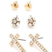 Love-And-Faith-Earring-Set GOLD - GoJane.com