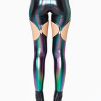 Oil Spill Garter Leggings