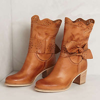 Anthropologie - Scallop-Tied Booties