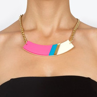 Neon Pink Geometric Statement Necklace,Choker,Plexiglass Jewelry,Geometric Jewelry,Lasercut Acrylic