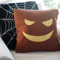 Justin the Jack o Lantern Pumpkin Pillow Cover Halloween Decor 18 x 18