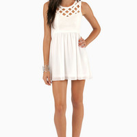 See You Lattice Skater Dress $35