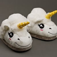 Adult Unicorn Slippers | Fantasy Slippers | BunnySlippers.com