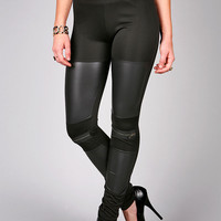Zipped Cap Leggings | Leggings at Pink Ice