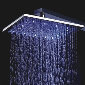 10 Inch Chrome Brass Shower Head With Faint LED Light (0698 -L-4205) - US$ 333.30