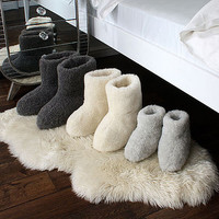 Merino Sheep Wool Booties