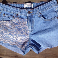 Lace Shorts with Bows on Back