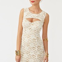 Cutout Crochet Dress in  Clothes Dresses at Nasty Gal