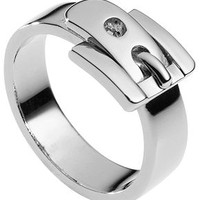 Michael Kors Ring, Silver-Tone Buckle Ring - Fashion Jewelry - Jewelry & Watches - Macy's