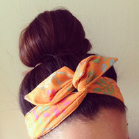 Orange Dolly Bow Headband by Eindre on Etsy