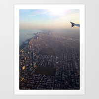 Flying into Chicago Art Print by Kelli Schneider