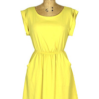 Little Miss Sunshine Dress: Yellow [DR91555-001] - &amp;#36;42.99 : Spotted Moth, Chic and sweet clothing and accessories for women