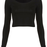 Long Sleeve Crop Tee - Crop Tops  - Tops  - Clothing