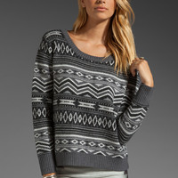 Haute Hippie Tribal Fairisle Sweater in Grey Multi from REVOLVEclothing.com