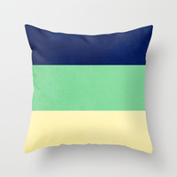 South Pacific Colorblock Stripes Throw Pillow by CMcDonald