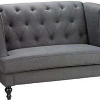 Morgan Settee - 37.5&quot;hx56.5&quot;w, Charcoal Gray