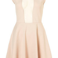 Mesh Insert Skater Dress - New In This Week - New In - Topshop