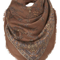 Tan Vintage Bird Print Scarf - New In - Topshop