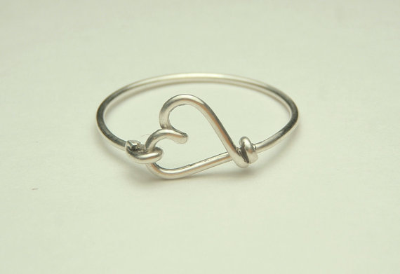 Cute small heart ring made on sterling silver wire by keoops8