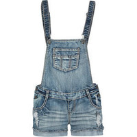VANILLA STAR Raw Edge Cuff Womens Denim Overalls 191562873 | rompers &amp; jumpsuits | Tillys.com