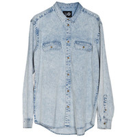 CHEAP MONDAY Santiago Shirt Fog Blue