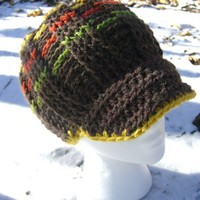 Marvin Gaye Crochet Beanie Hat with a brim