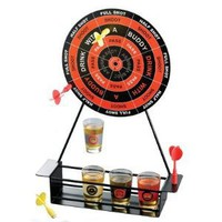 Amazon.com: Crystal Clear Shot Glass Darts Bar Game Set: Kitchen &amp; Dining